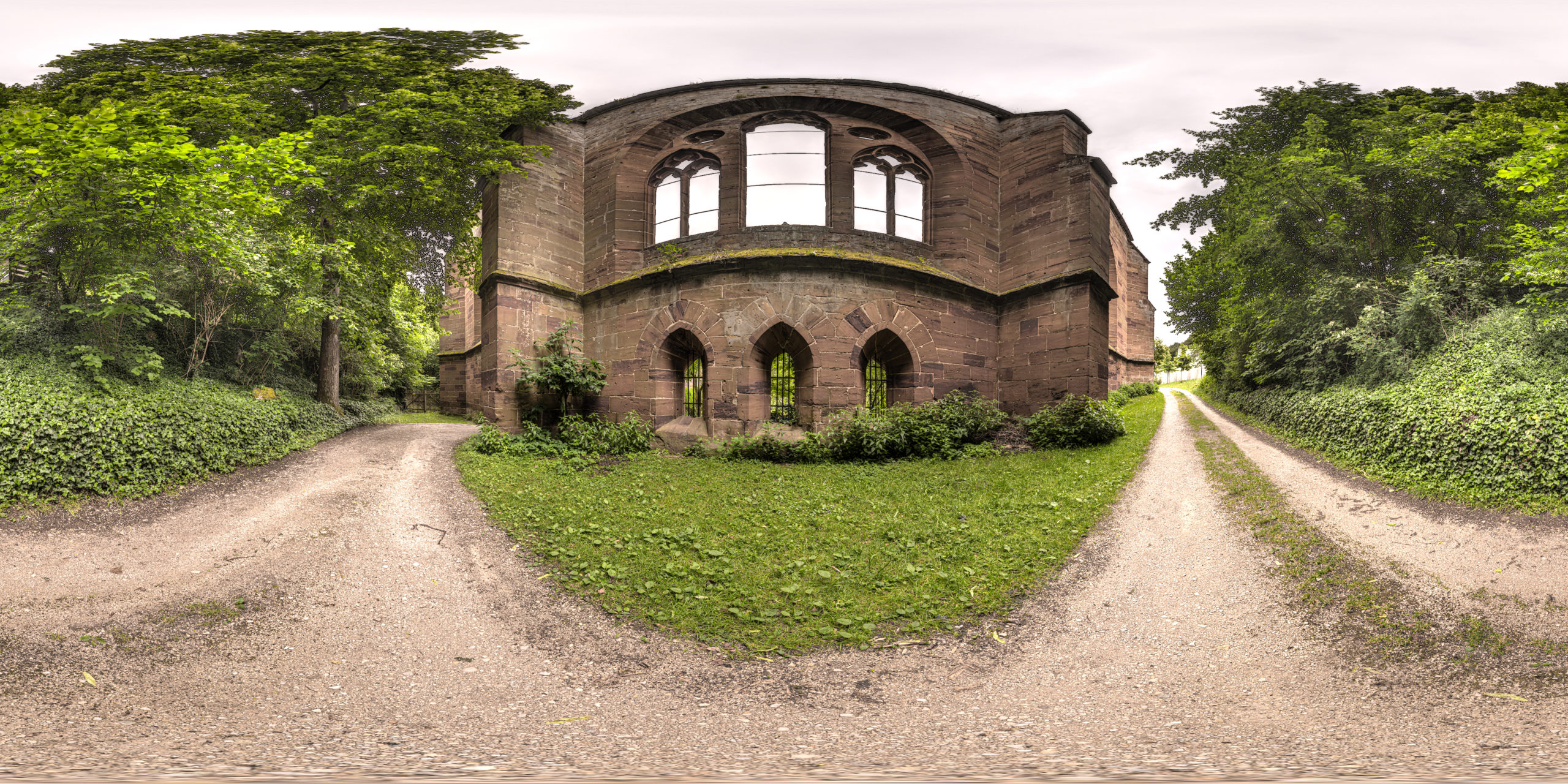 HDRI-Skies-Monastery-Ruins-Gnadenberg-Berg-Bei-Neumarkt