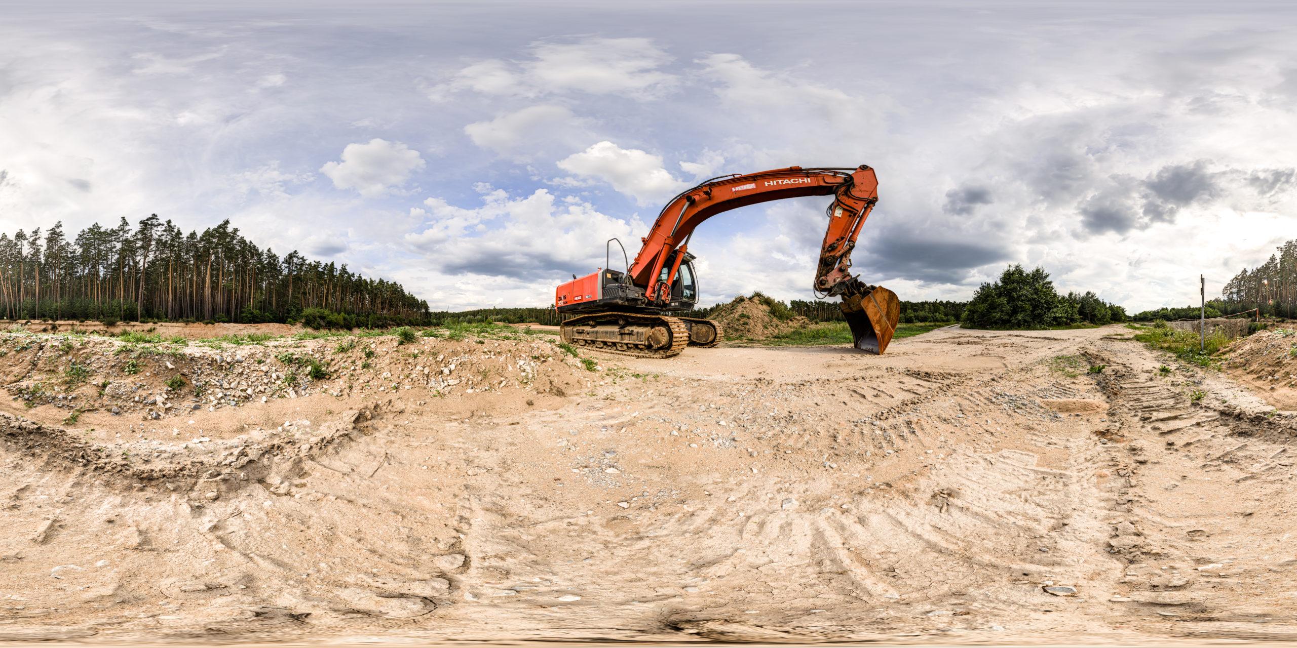 HDRI-Skies-Sand-Pit-Excavator-Roth