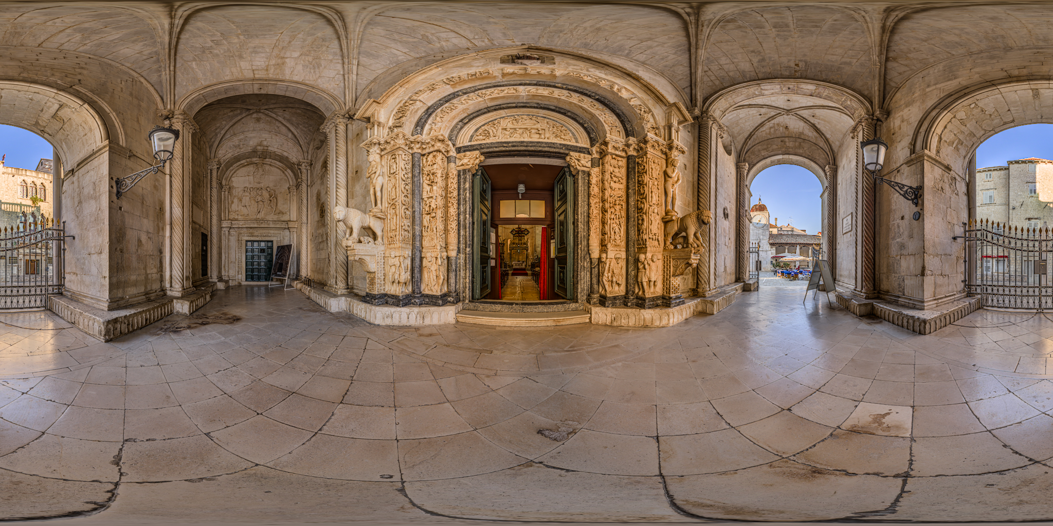 HDRI-Skies-Cathedral-Saint-Lovre-Entrance-Trogir