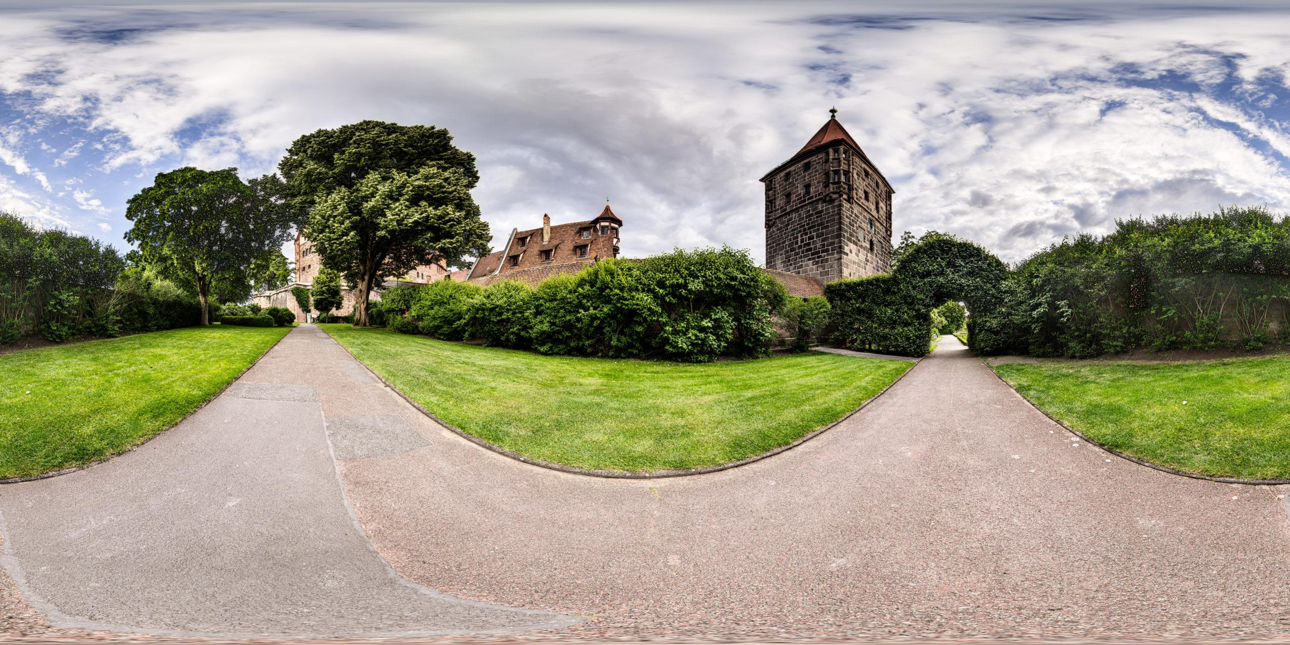 HDRI-Skies-Imperial-Castle-Front-Yard-Nürnberg
