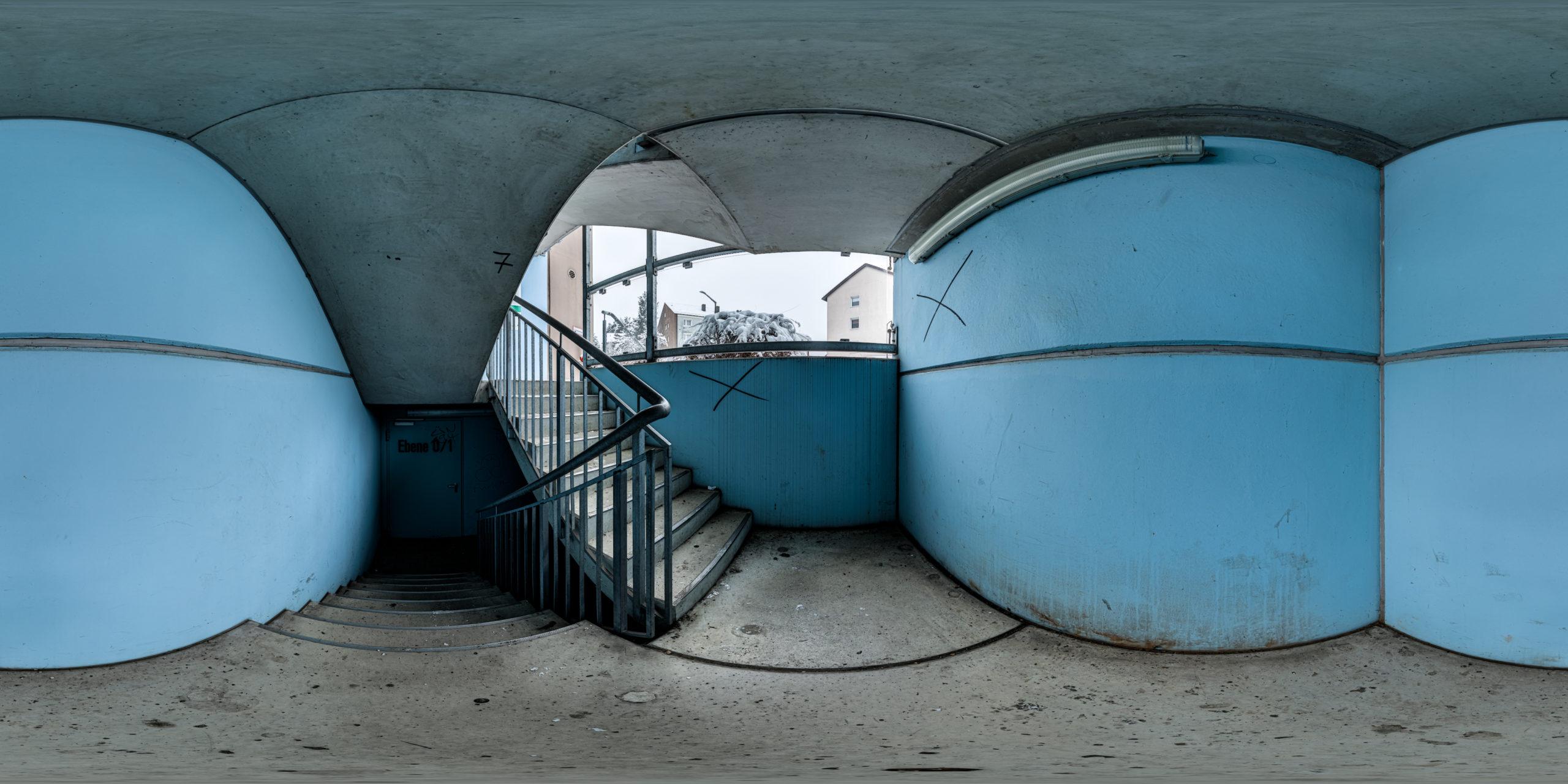 HDRI-Skies-Parking-Garage-Fürther-Mare-Stairwell-Fürth
