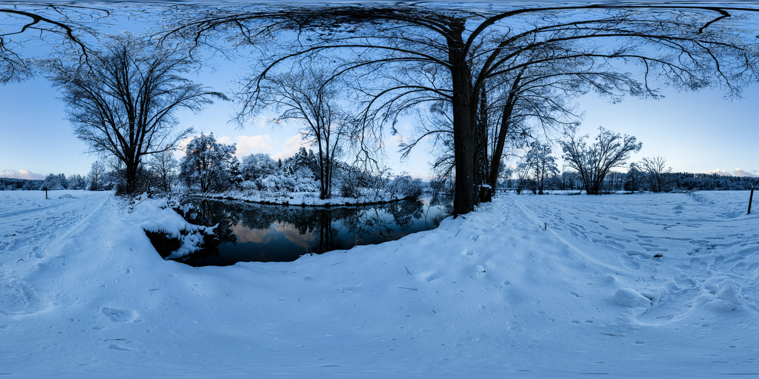 HDRI-Skies-Snowy-Environment-Schwäbische Rezat